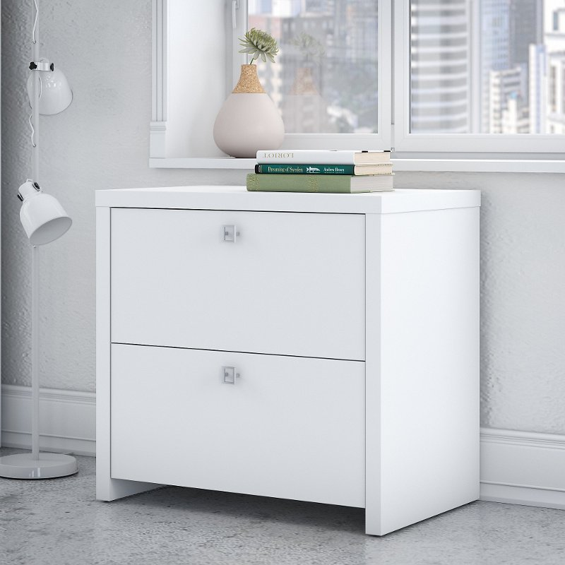 Charmant White 2 Drawer Lateral File Cabinet   Echo