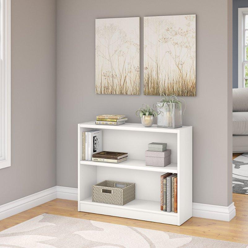 White 2-Shelf Bookcase - Universal