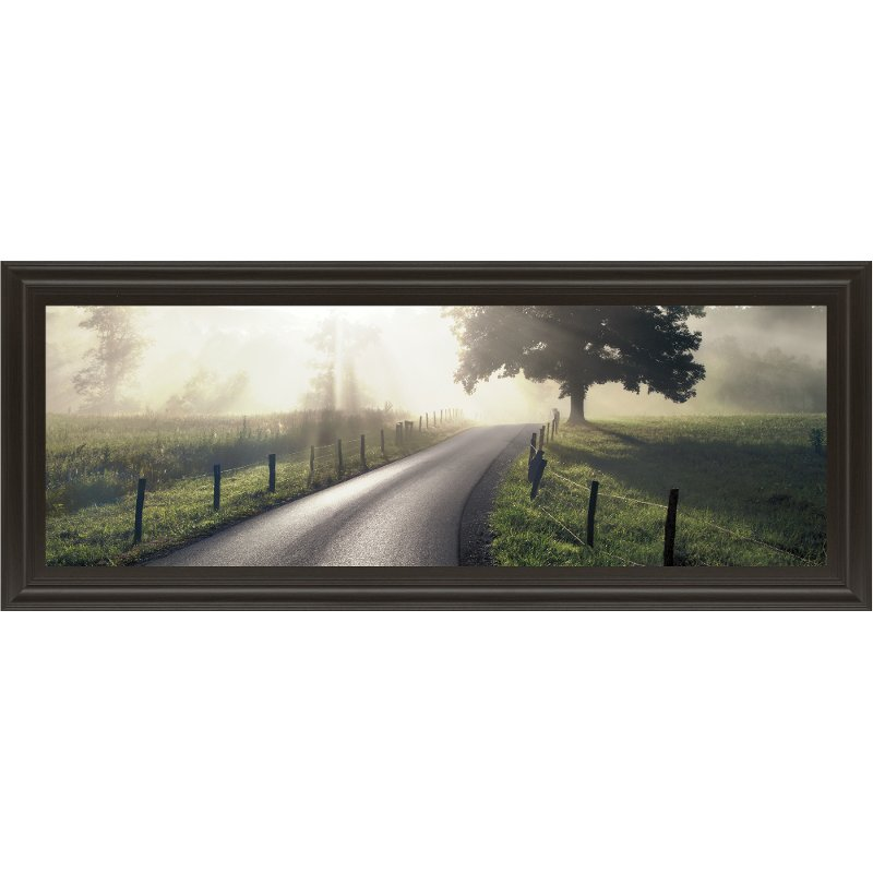 Mountain Morning Glory Road Framed Wall Art | RC Willey Furniture Store