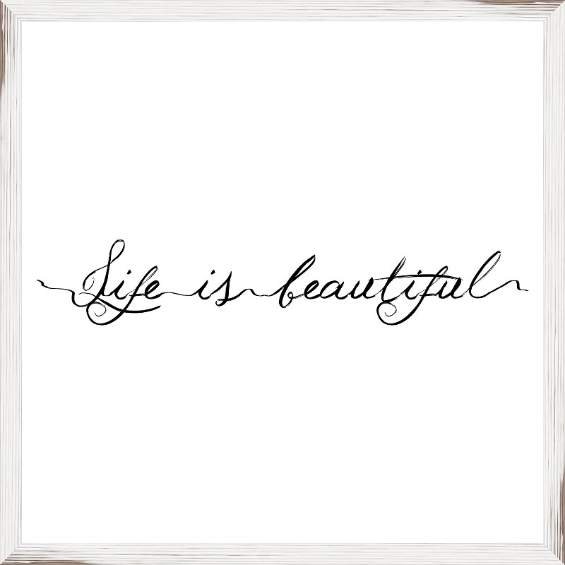 Life Is Beautiful Elegant Framed Wall Art Rc Willey Furniture Store