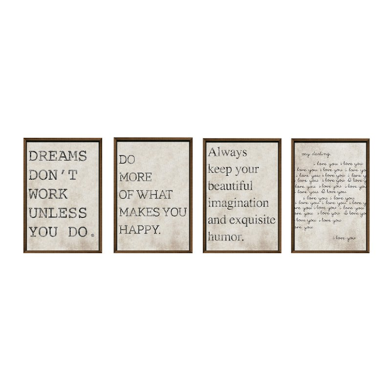 Love And Hy Framed Wall Art Set Of 4