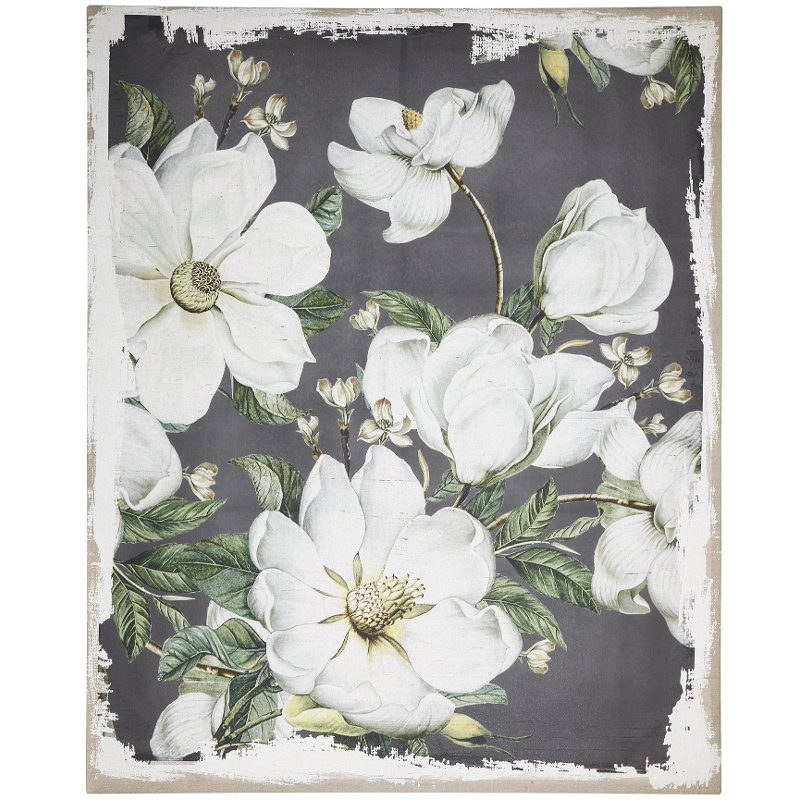 Magnolia Blooms Canvas Wall Art  sc 1 st  RC Willey & Magnolia Blooms Canvas Wall Art | RC Willey Furniture Store