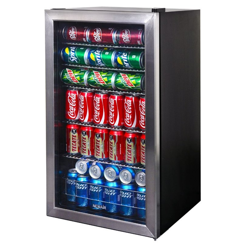 Stainless Steel 126 Can Beverage Cooler