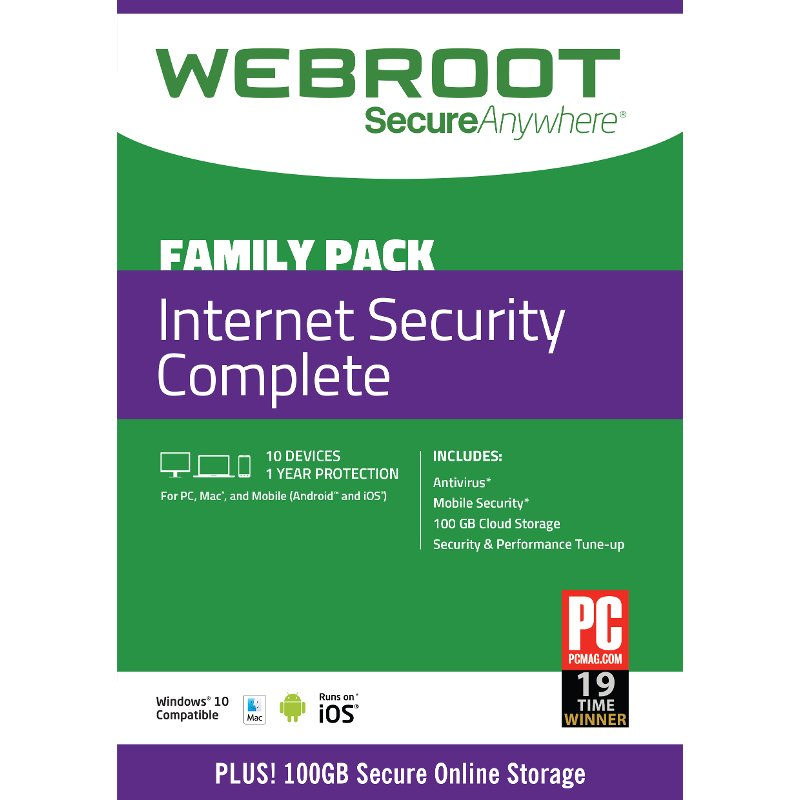Rc Willey Electronics: 10 Pack - Webroot Internet Security Complete