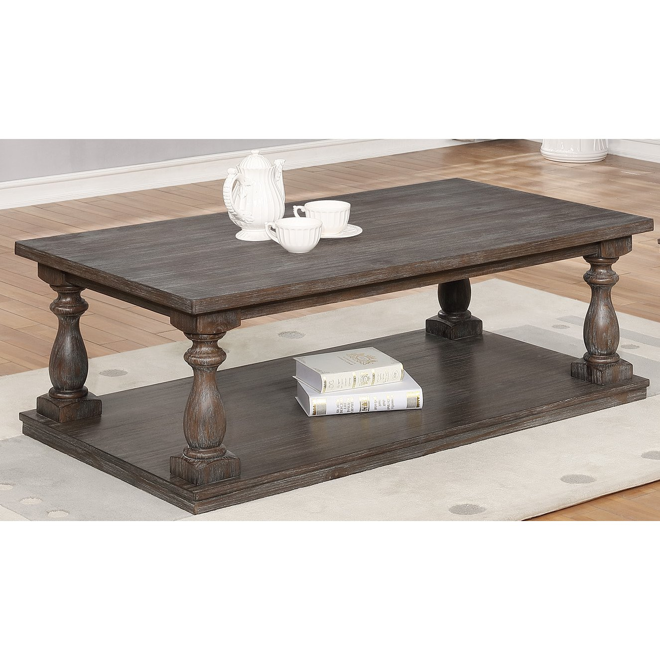 Antique Gray Coffee Table - Regent - Antique Gray Coffee Table - Regent RC Willey Furniture Store