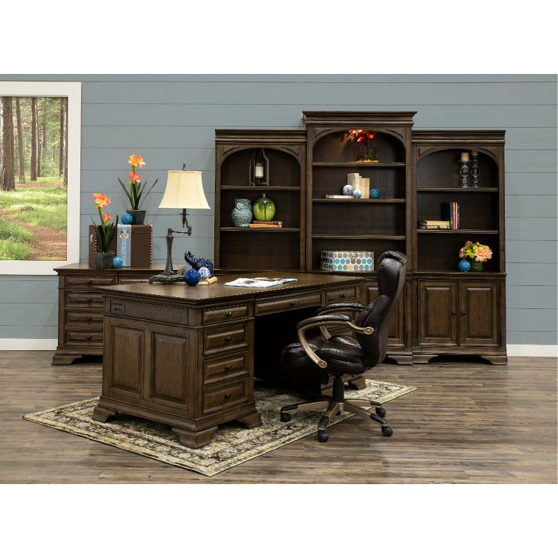 72 Inch Chestnut Brown Executive Office Desk Arcadia Rc Willey