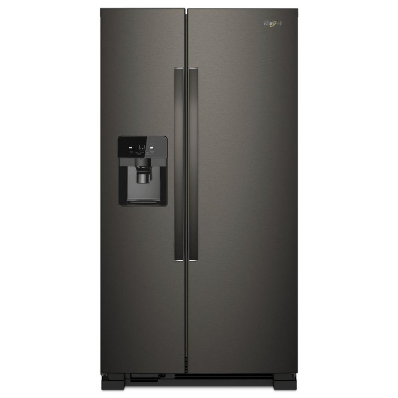Whirlpool Side By Side Refrigerator   36 Inch Fingerprint Resistant Black  Stainless | RC Willey Furniture Store
