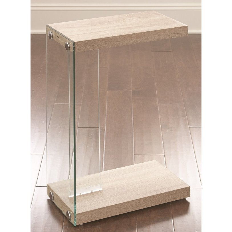 Modern Contemporary Light Oak Side Table Elaina
