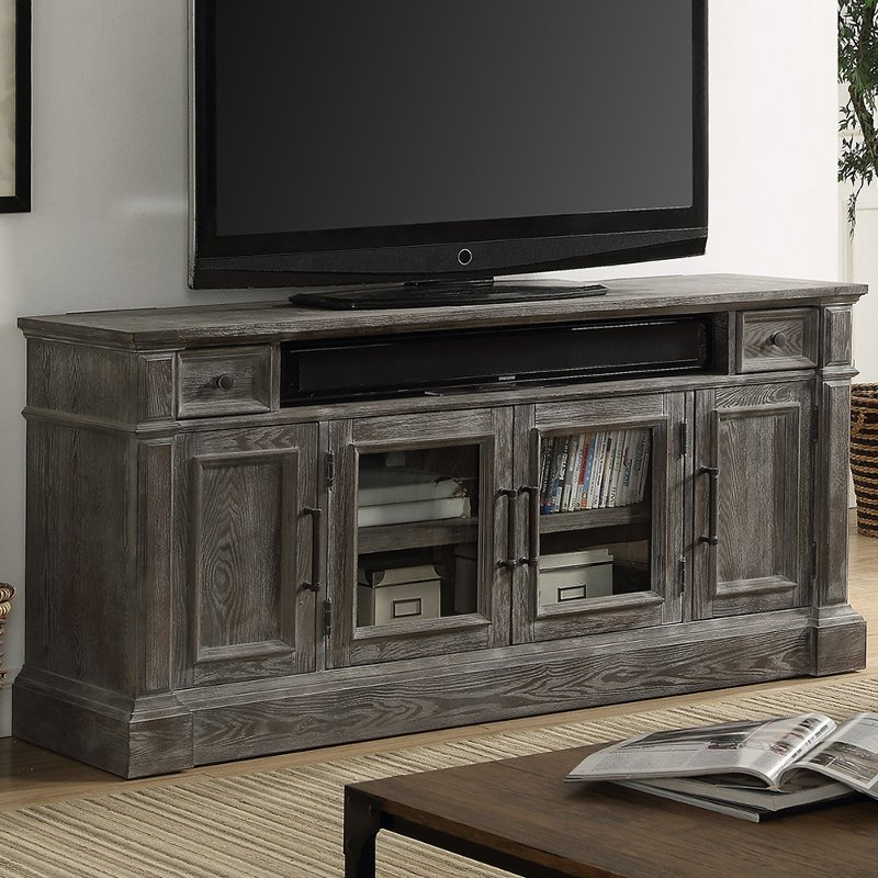 65 Inch Vintage Smoke Gray Tv Stand Gramercy Park Rc