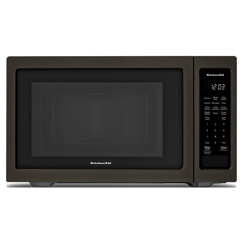 Kitchenaid Countertop Microwave 1 6 Cu Ft Black Stainless Steel Rc Willey Furniture
