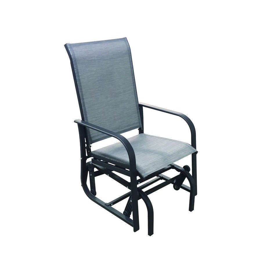 Attirant Gray Outdoor Patio Glider