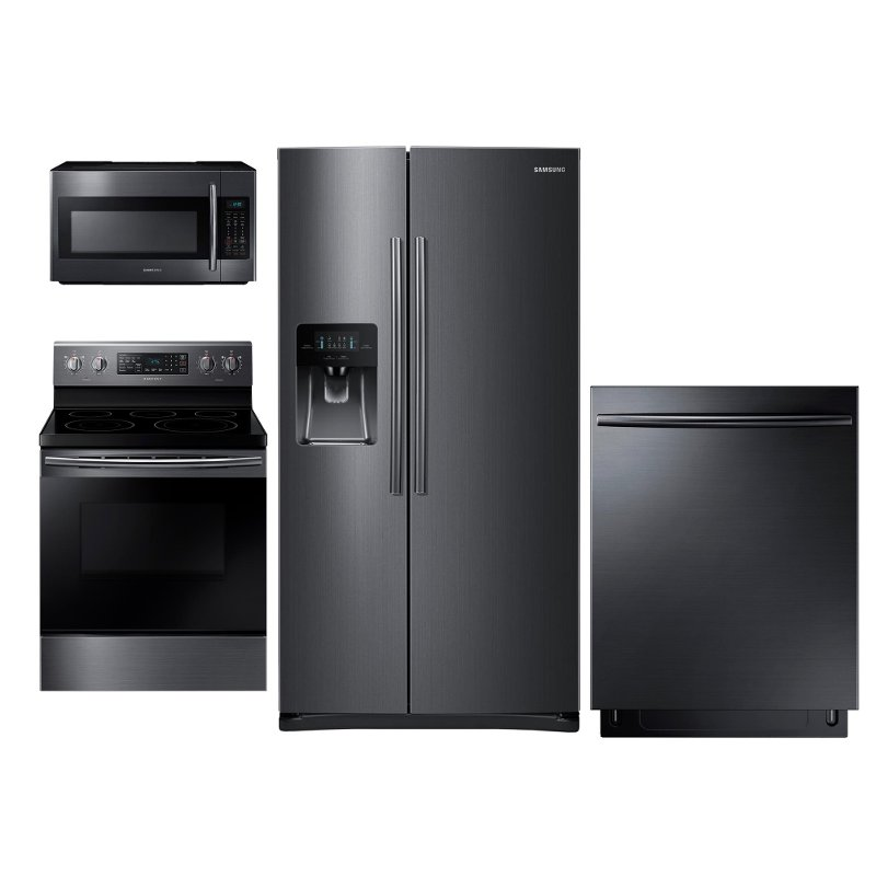Samsung 4 Piece Kitchen Appliance Package With Electric Convection