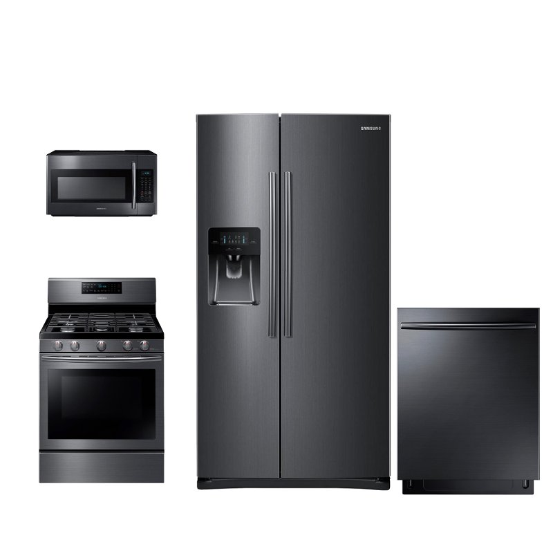 Samsung 4 Piece Kitchen Appliance Package With Self Clean