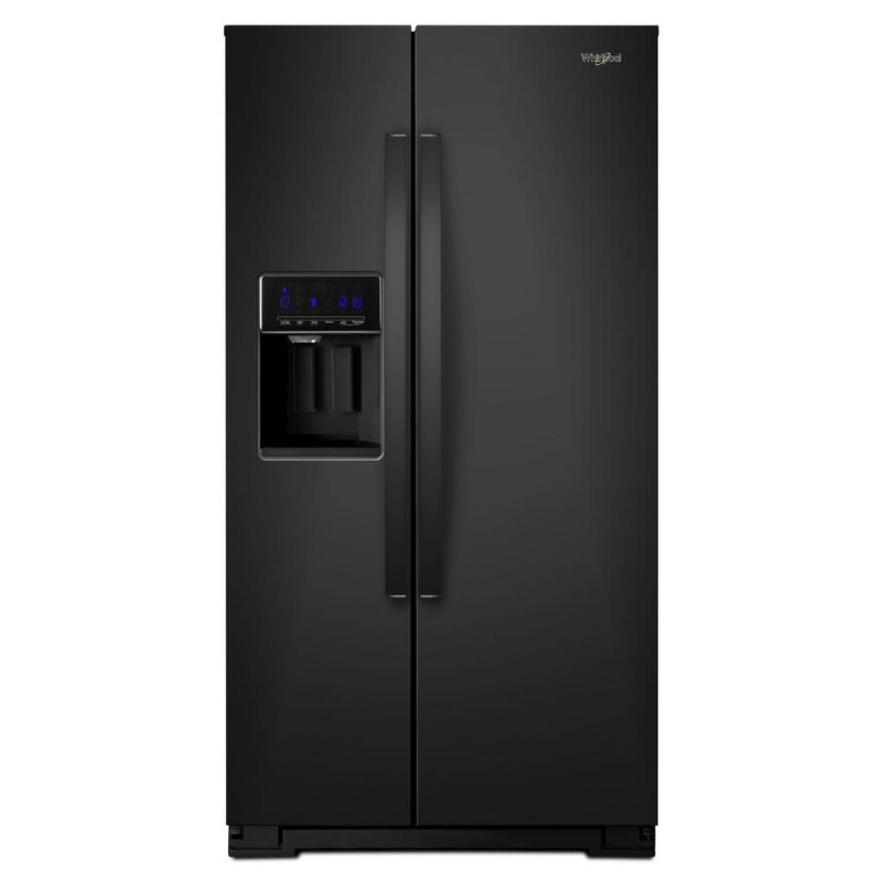 Whirlpool Side By Side Refrigerator 36 Inch Black Rc