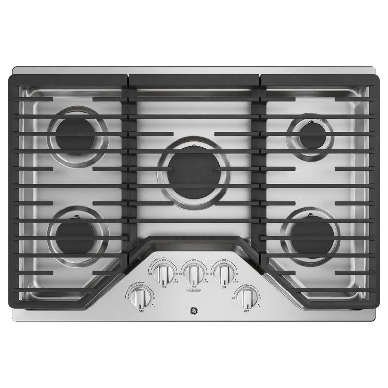 Ge 30 Inch Gas Cooktop With 5 Burners Stainless Steel Rc Willey