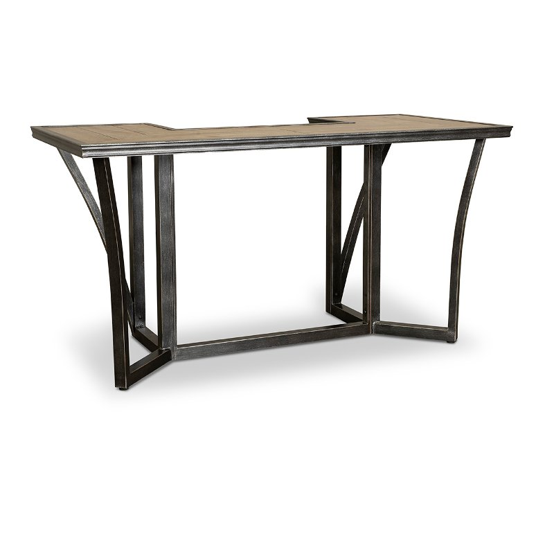 U Shaped Patio Bar Table Franklin Rc Willey Furniture Store