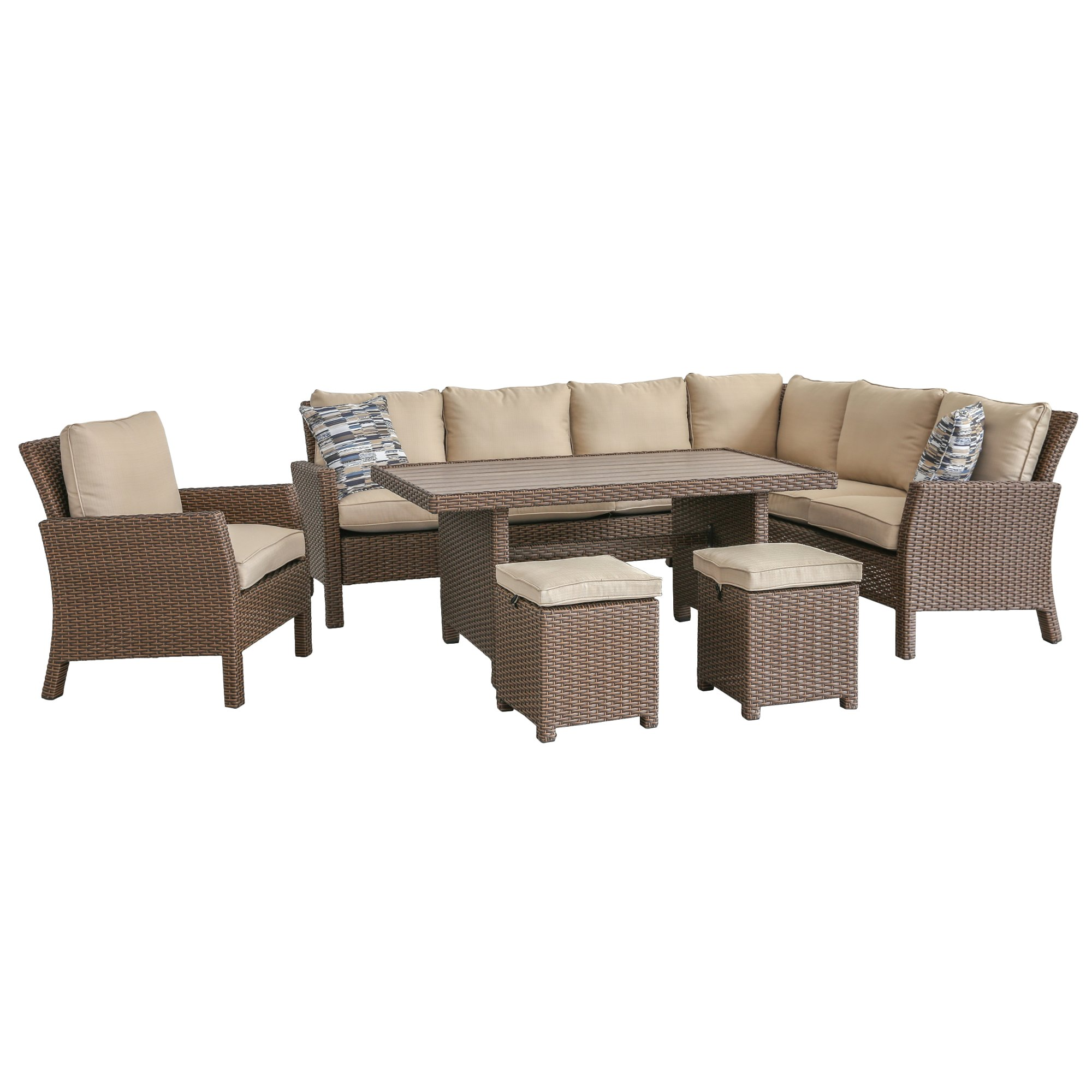 6 Piece Outdoor Patio Furniture Set Arcadia Rc Willey