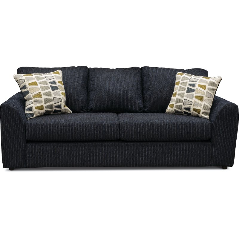Casual Contemporary Dark Blue Sofa - Hannah