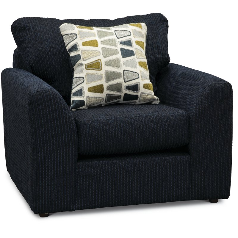Casual Contemporary Dark Blue Chair Hannah Rc Willey Furniture Store