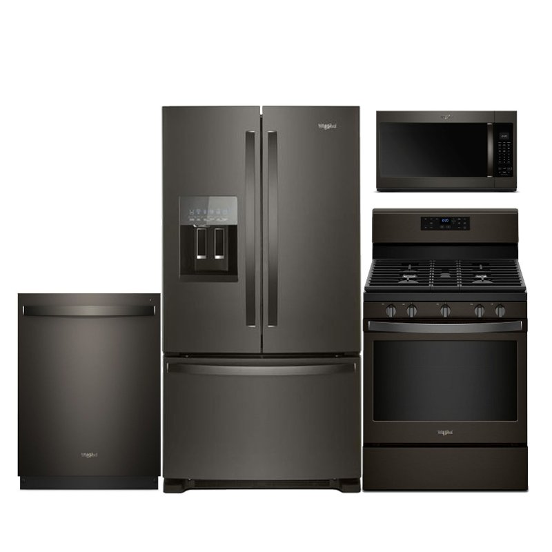 Kitchen Cabinet Package: Whirlpool 4 Piece Kitchen Appliance Package With Gas Range