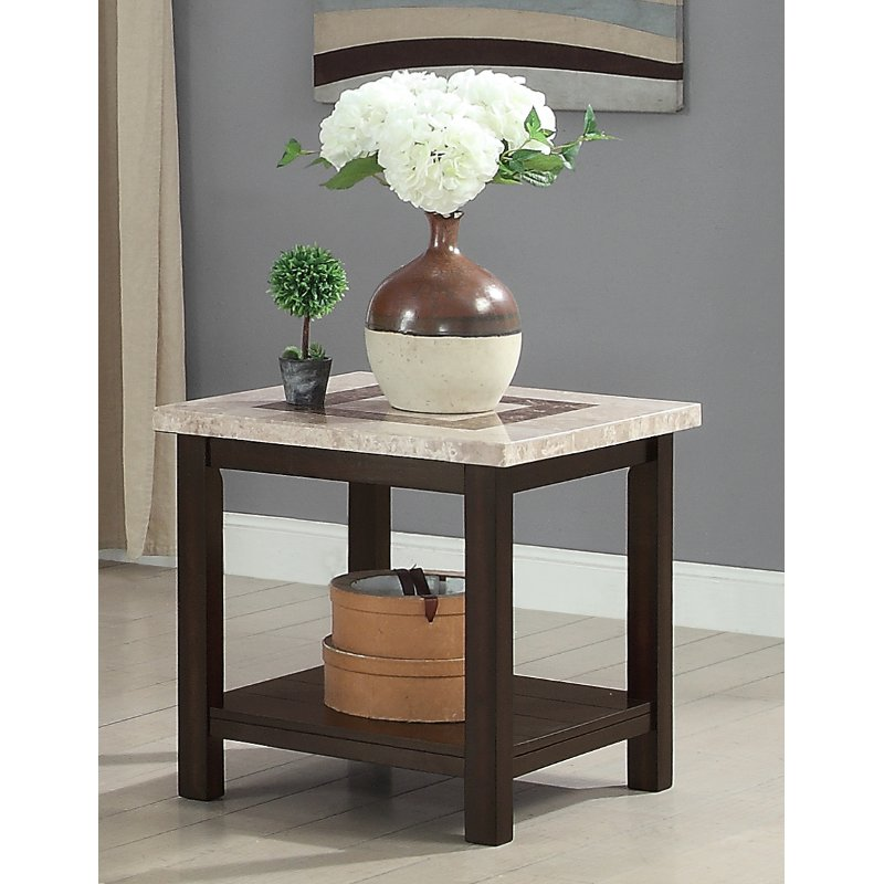 Dark Marble End Table   Montreal