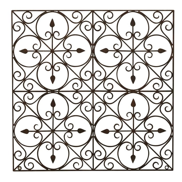 36 Inch Square Hand-Made Wrought Iron Wall Decor | RC Willey ...