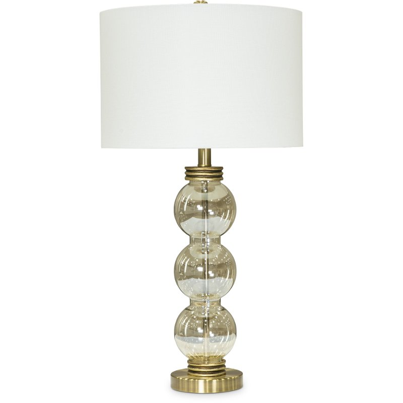 Tall Bubble Glass Table Lamp With White Shade Rc Willey Furniture
