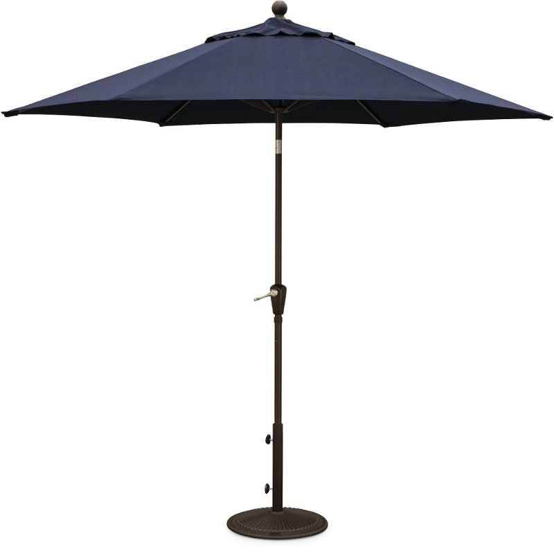 9u0027 Navy Blue Patio Umbrella