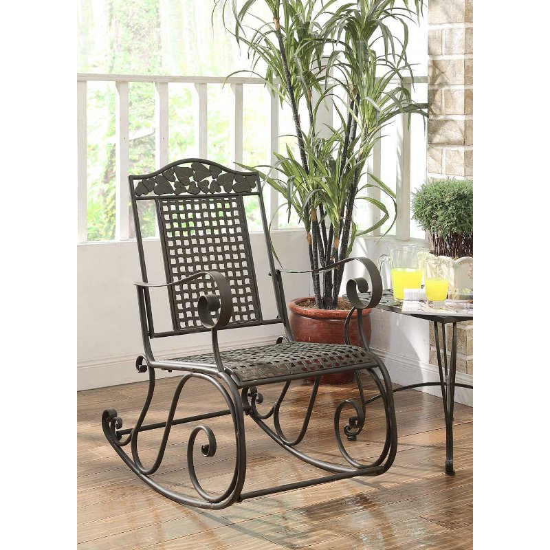 Metal Outdoor Patio Rocking Chair Ivy League Rc Willey Furniture