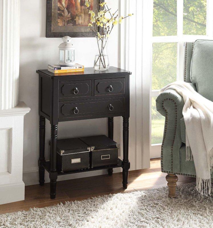 Black 3 Drawer Living Room Chest, Living Room Chest