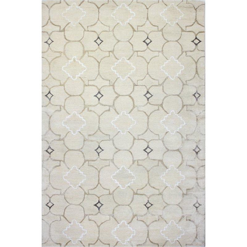 8 X 10 Large Ivory Area Rug Greenwich