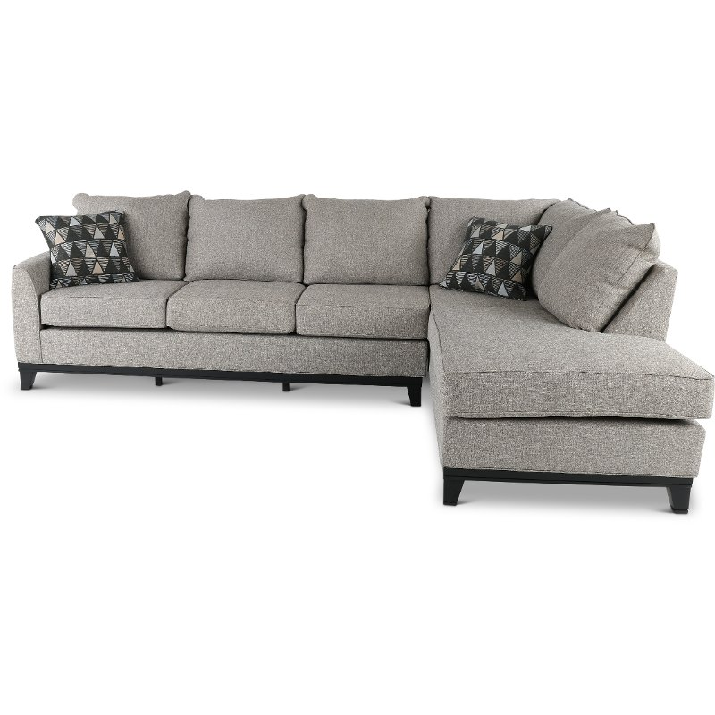 Slate Gray 2 Piece Sectional Sofa With