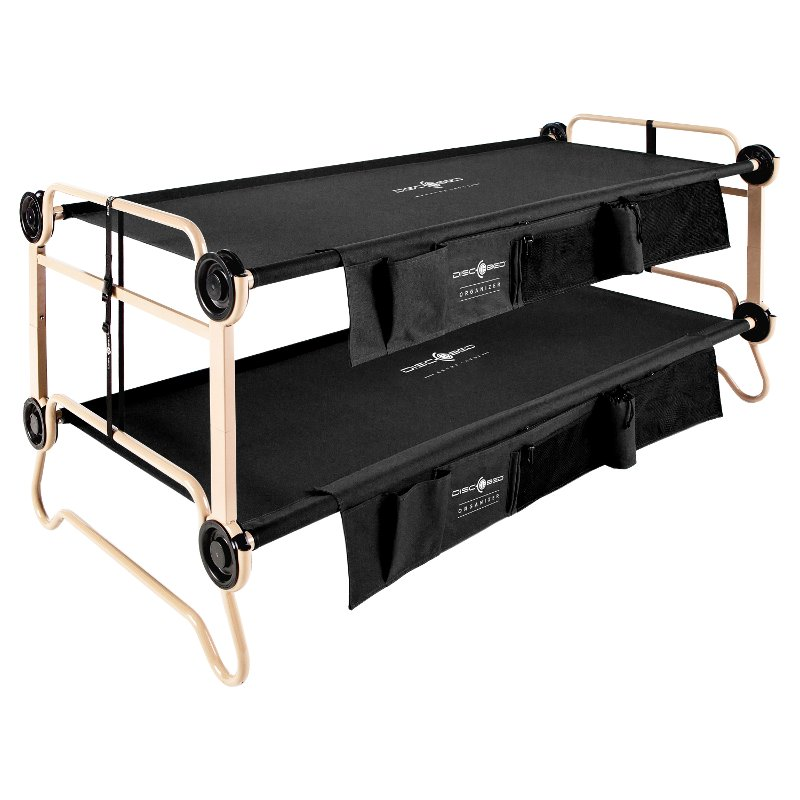 Extra Large Black Bunk Bed With 2 Organizers Rc Willey Furniture Store
