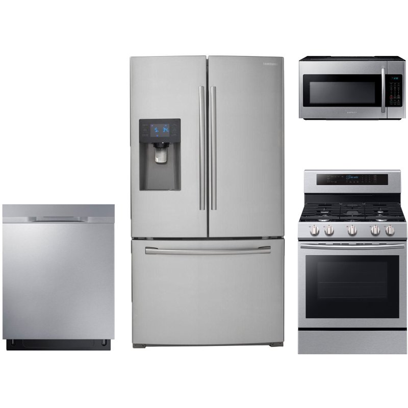All In One Kitchen Appliance.Samsung 4 Piece Kitchen Appliance Package With Gas Range With True Convection Oven Stainless Steel