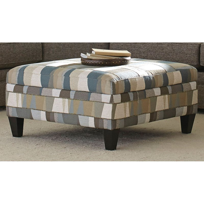 Casual Classic Geometric Storage Cocktail Ottoman   Orion