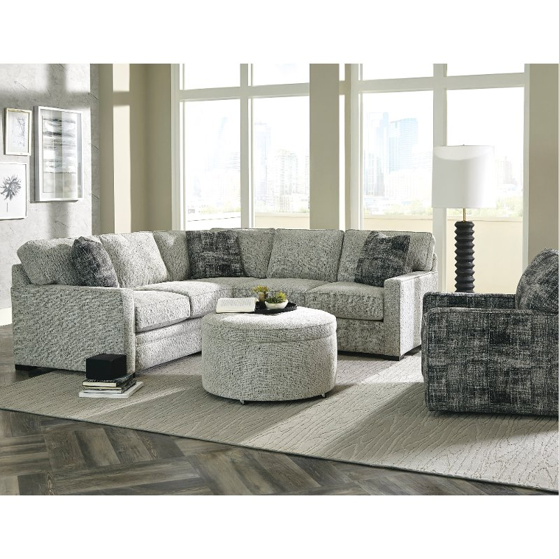 Casual Contemporary Gray 2 Piece Sectional Sofa   Juno | RC Willey Furniture  Store