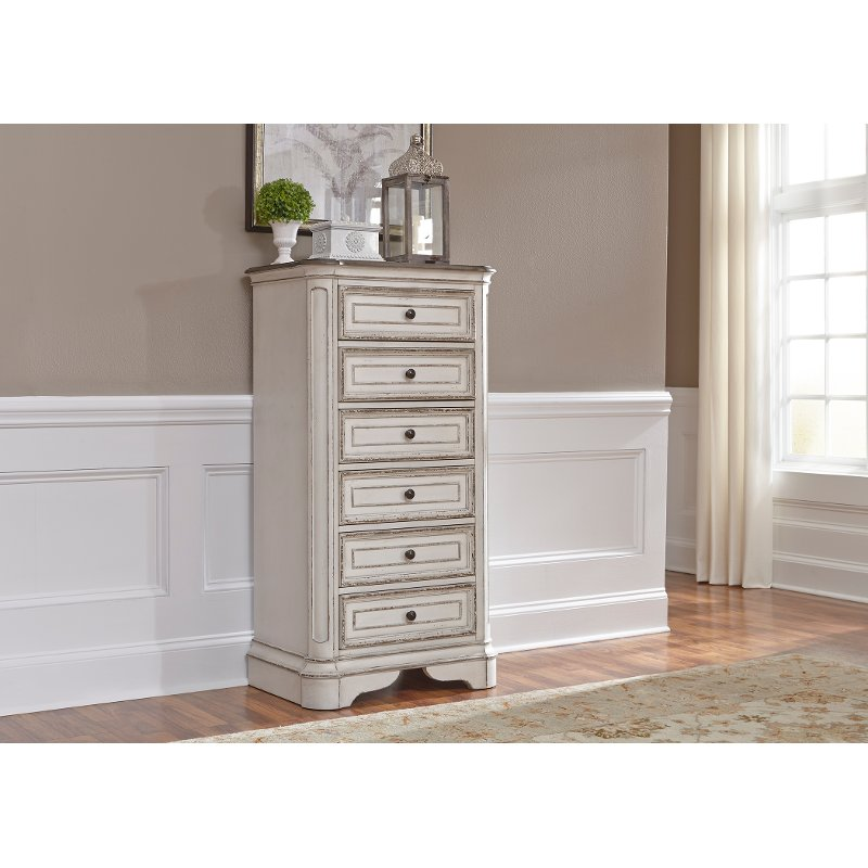 Traditional Furniture Store: Traditional Antique White Lingerie Chest