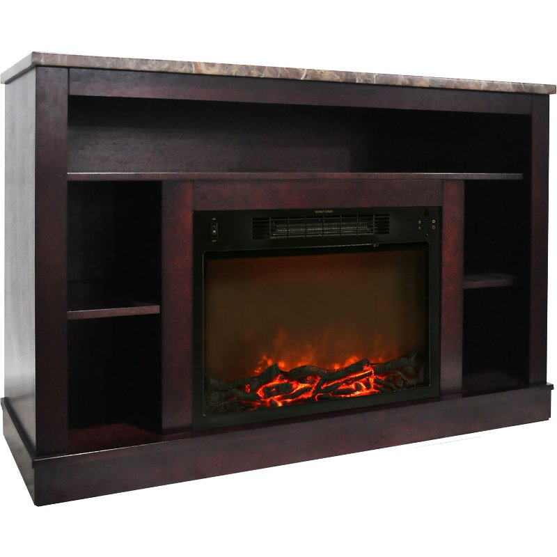 Mahogany Electric Fireplace With Mantel 47 Inch Seville Rc