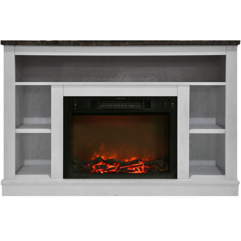 White Electric Fireplace With Mantel 47 Inch Seville Rc Willey