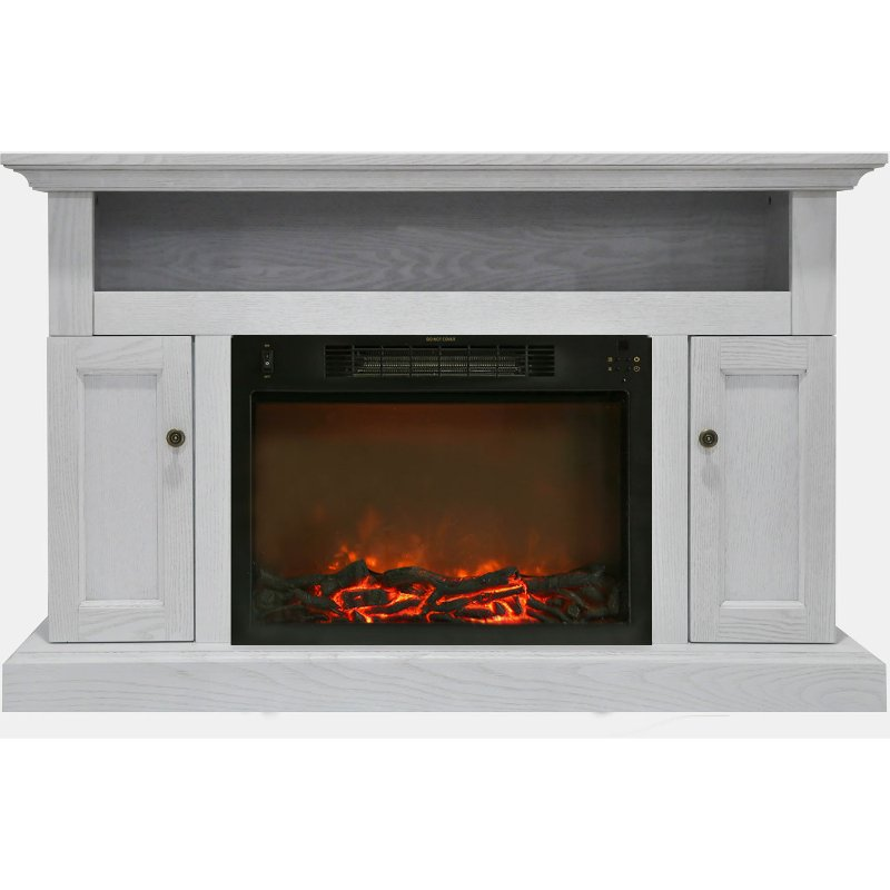 Crisp White Modern 50 Inch Fireplace Tv Stand Sorrento Rc Willey
