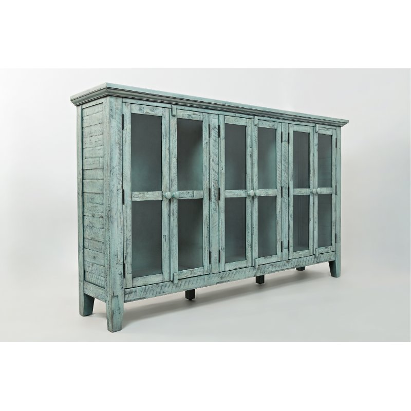Gentil Casual Rustic Surfside Blue Cabinet   Rustic Shores