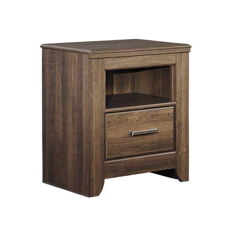 Rustic Modern Driftwood Brown Youth Nightstand
