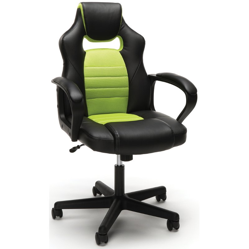 Prime Green And Black Racing Style Gaming Chair Essentials Squirreltailoven Fun Painted Chair Ideas Images Squirreltailovenorg