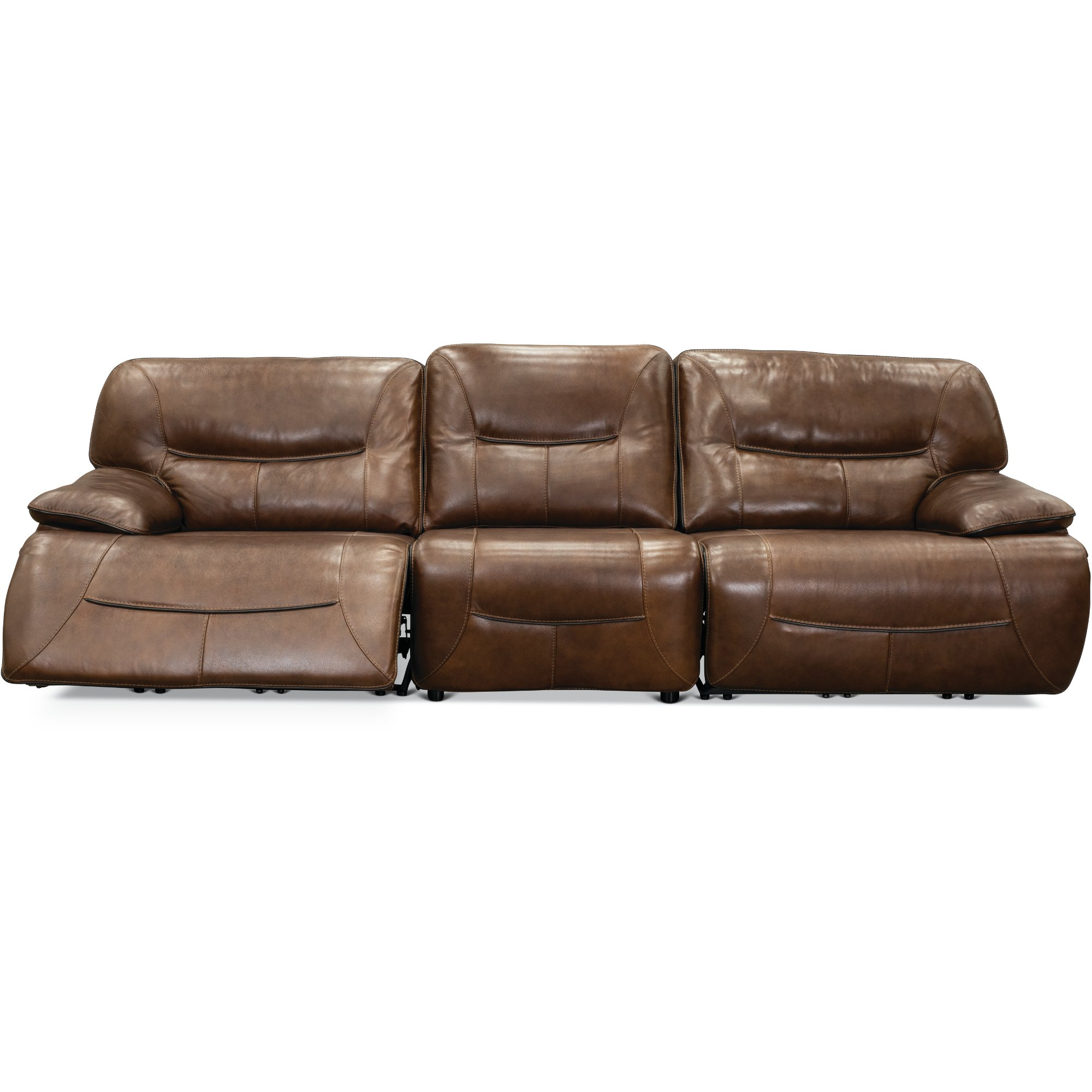 Brown Leather-Match 3 Piece Power Reclining Sofa - Max | RC Willey ...