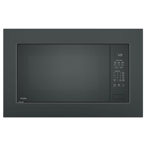 Ge Profile Countertop Microwave With Trim Kit Black Slate Rc Willey Furniture