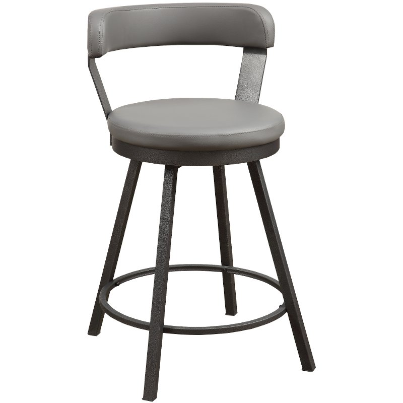 Cloud Gray Modern Swivel Counter Height Stool   Appert