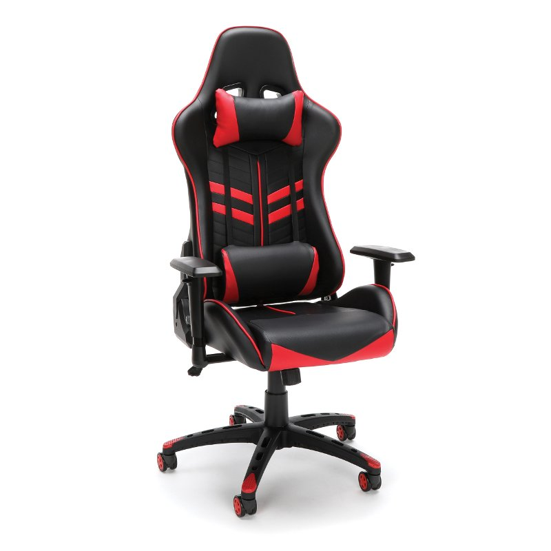 Racing Style Red And Black Gaming Chair Essentials Rc