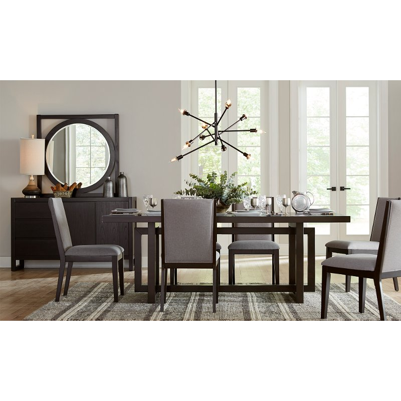 Superieur Morning Brew Brown Contemporary 5 Piece Dining Set   Crosby Street | RC  Willey Furniture Store