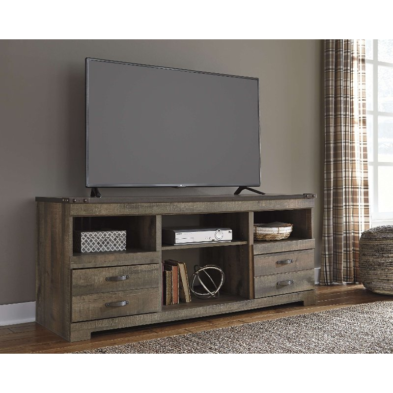 Natural Brown Rustic Wooden 70 Inch Tv Stand Trinell