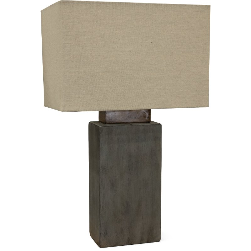 Cement Indoor Outdoor Table Lamp With Rectangular Shade Rc Willey